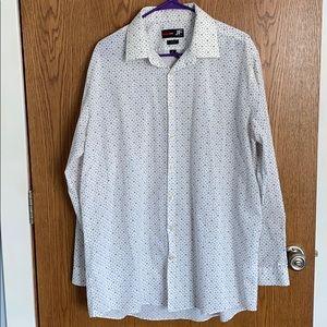 JF J.Ferrar Slim Stretch Dress Shirt